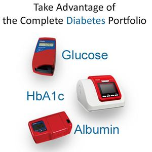 Image of Glucose instruments from HemoCue, HbA1c, Glucose and Albumin