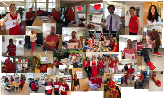 Images from World Blood Donor Day 2019 at HemoCue Ängelholm